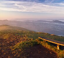 The bench on Worcester Beacon by Cliff Williams