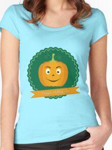 Sweet pumpkin on Halloween Women's Fitted Scoop T-Shirt