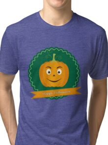 Sweet pumpkin on Halloween Tri-blend T-Shirt