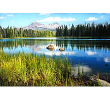 Scott Lake and the Sisters Mountains Photographic Print