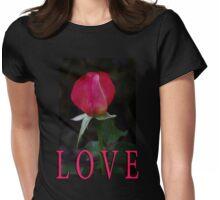 rosebud love t Womens Fitted T-Shirt