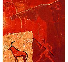 Hunting 2 - rock paintings 2001 Photographic Print