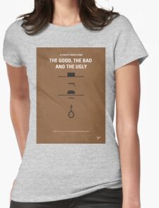 No090 My The Good The Bad The Ugly minimal movie poster Womens Fitted T-Shirt