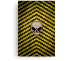 Chevrons with Skull Canvas Print