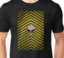 Chevrons with Skull Unisex T-Shirt