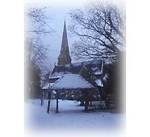 Snow Church Photographic Print