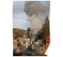 Steam Train in Goathland Poster