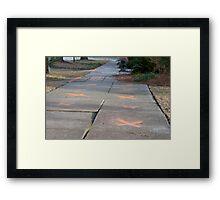 The X Sidewalk Framed Print