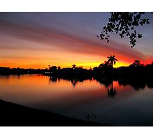 Sunset over Man Made Lake Photographic Print