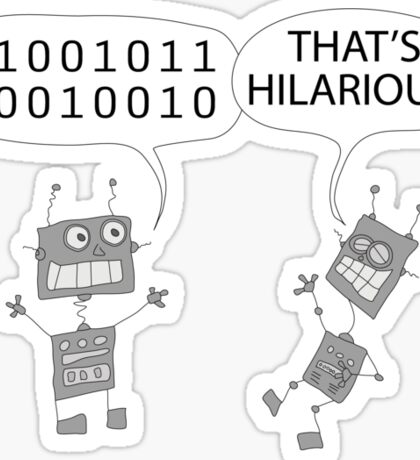 Jokes in binary Sticker