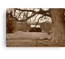 Country scenery Parker City Indiana Canvas Print