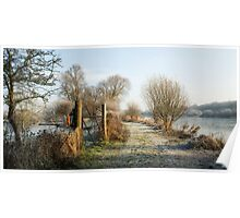 Frosty Lake Morning - Fordwich Poster
