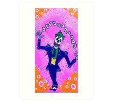 Joker Day of the Dead Art Print