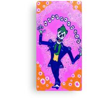 Joker Day of the Dead Canvas Print