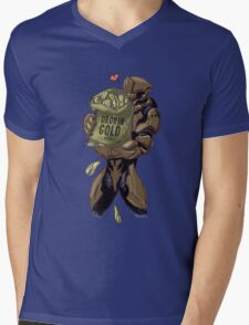 Rhino's Favorite Food Mens V-Neck T-Shirt