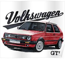 volkswagen golf mk.2 Poster