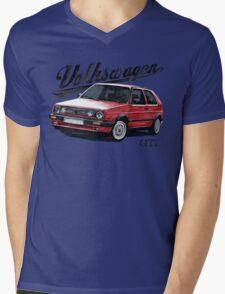 volkswagen golf mk.2 Mens V-Neck T-Shirt