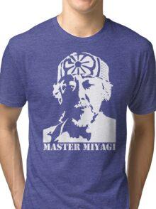 Mr Miyagi Karate Kid stencil Tri-blend T-Shirt
