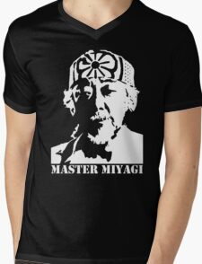 Mr Miyagi Karate Kid stencil Mens V-Neck T-Shirt