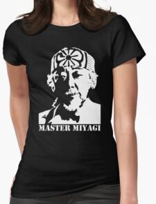 Mr Miyagi Karate Kid stencil Womens Fitted T-Shirt