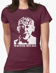 Mr Miyagi Karate Kid stencil Womens Fitted T-Shirt