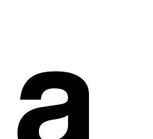 Helvetica Lowercase - a by edgargarcia