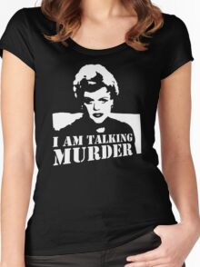 Murder She Wrote Deadly Lady stencil Women's Fitted Scoop T-Shirt