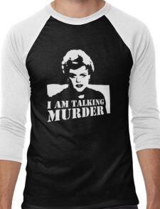 Murder She Wrote Deadly Lady stencil Men's Baseball ¾ T-Shirt