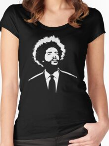 Questlove The Roots stencil Women's Fitted Scoop T-Shirt