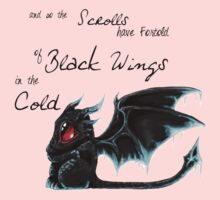 Black Wings One Piece - Short Sleeve