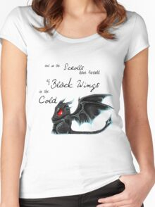 Black Wings Women's Fitted Scoop T-Shirt