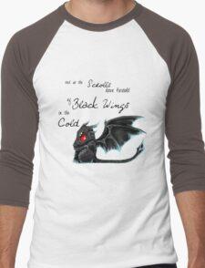 Black Wings Men's Baseball ¾ T-Shirt
