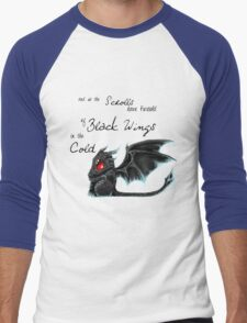 Black Wings Men's Baseball ¾ T-Shirt