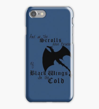 Black Wings In The Cold iPhone Case/Skin