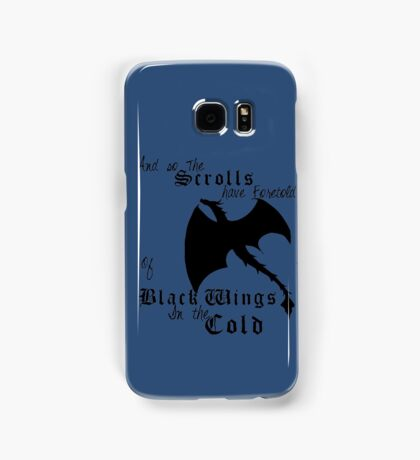 Black Wings In The Cold Samsung Galaxy Case/Skin