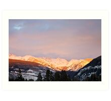 Gore Range, near Vail, Colorado Art Print