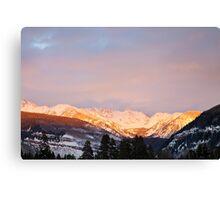 Gore Range, near Vail, Colorado Canvas Print