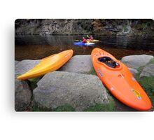 Focus on Canoeing Canvas Print