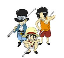 One Piece: Young Luffy x young Sabo x young ace by Kaidzuka