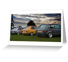 The MIVW Mk1 Golf's at Edition38 2010 Greeting Card