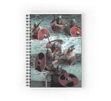 Vikings wading Spiral Notebook