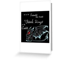 Black Wings (White Lettering) Greeting Card