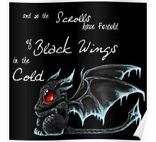 Black Wings (White Lettering) Poster