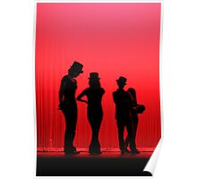 Dancers Waiting on Stage Poster