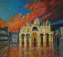 St mark`s Venice After The Flood by Leslie  Conroy