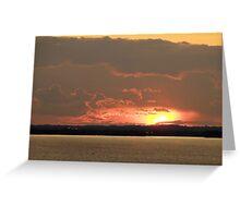 Lake Winnebago Sunset Greeting Card