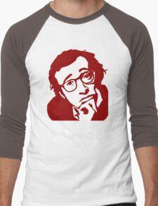 Woody Allen Director Movies stencil Men's Baseball ¾ T-Shirt