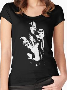 stencil Axel Rose Women's Fitted Scoop T-Shirt