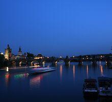 Charles Bridge Prague by Night by espanek