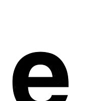 Helvetica Lowercase - e by edgargarcia